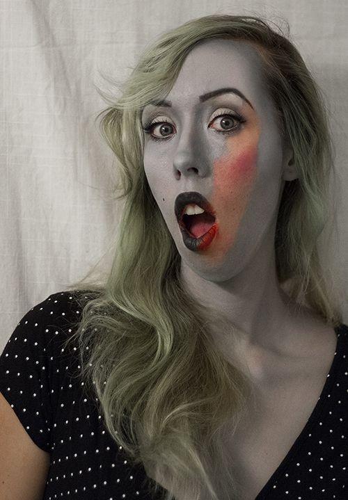 Pleasantville inspired makeup