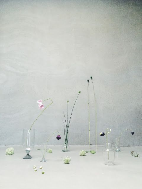 Small vases for simple flowers from tinekhome