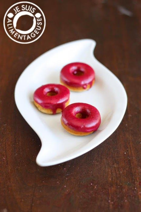 What's For Breakfast?: Vanilla Donuts with Blueberry Lemon Glaze