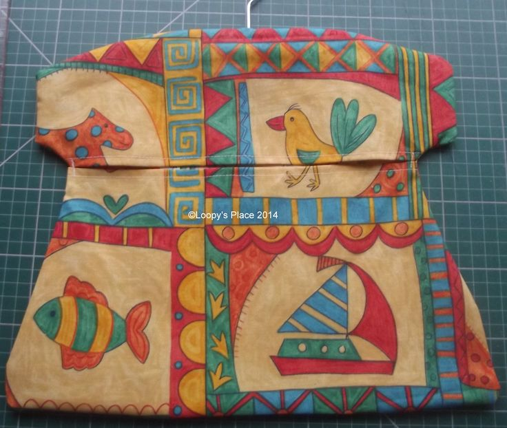 Traditional style peg bag made to match ironing board cover