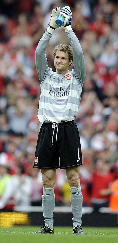 Jens Lehmann (Arsenal FC, 2003–2008, 148 apps, 0 goal)