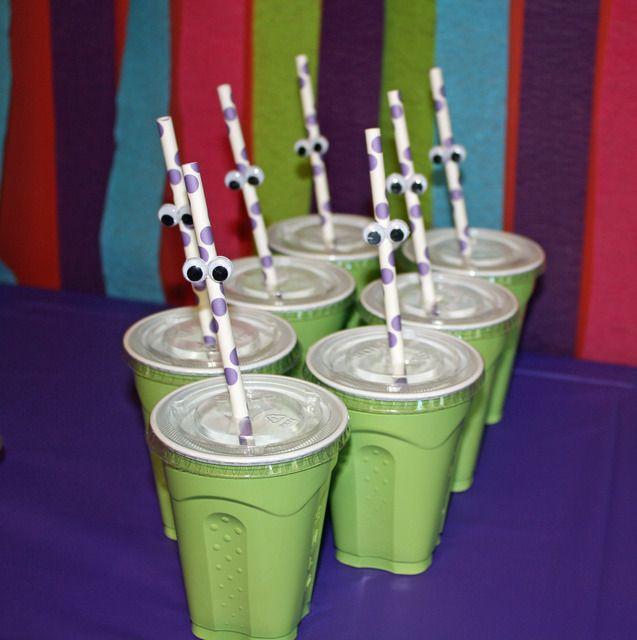 Drinking straws with eyesOliver'S Birthday, 1St Birthday, 3Rd Birthday, Monsters Birthday, Birthday 11 16 2013, Birthday Ideas