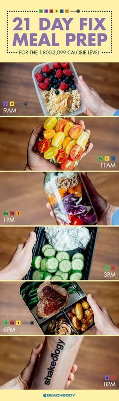 healthy recipes // 21 Day Fix // 21 Day Fix Extreme // 21DF // portion control // balance // healthy eating // meal planning // meal prep // Beachbody // BeachbodyBlog.com