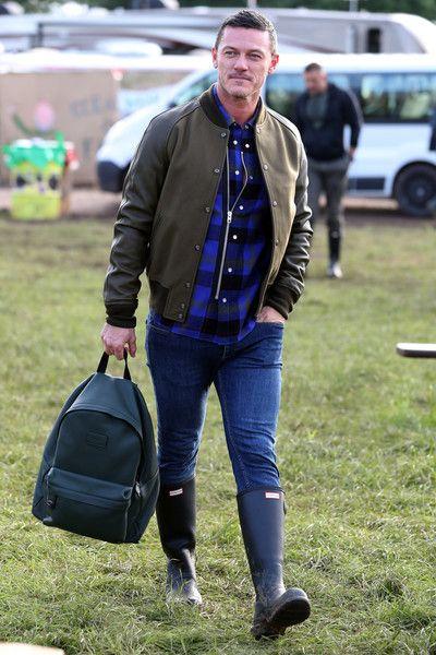 Luke Evans Photos - Actor Luke Evans wearing Coach attends the Glastonbury Festival at Worthy Farm, Pilton on June 23, 2016 in Glastonbury, England. - Glastonbury Festival 2016 Sightings