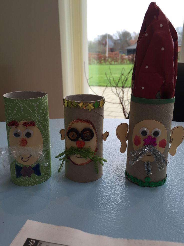 Julemænd  - servietholder - toiletruller