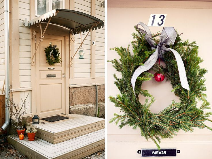 A diy spruce wreath. tuulinenpaiva.fi