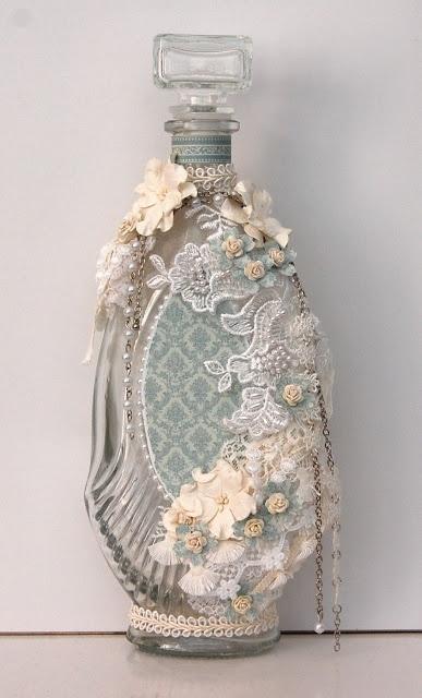 Ingrid's place: altered glass bottle