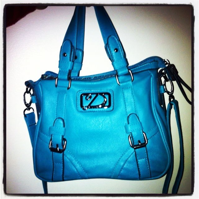 My spring teal purse