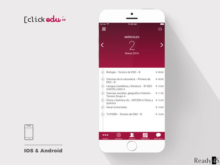 ClickEdu is an information management app for educational institutions. It helps to improve contact between teachers, parents and children by using internal communication system and integrated calendar.