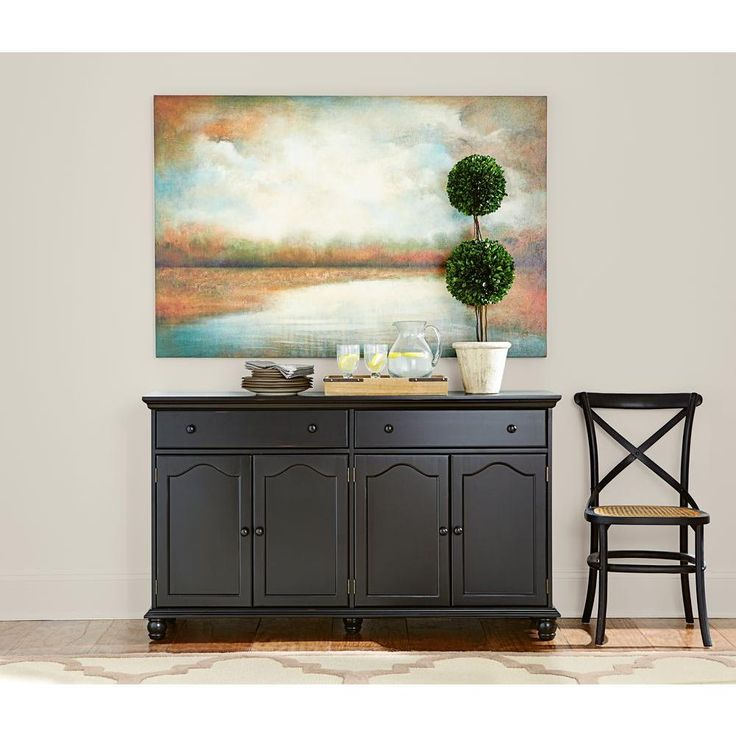 Best 25 black buffet ideas on pinterest wine decor for kitchen black buffet table and dining - Black dining room buffet ...