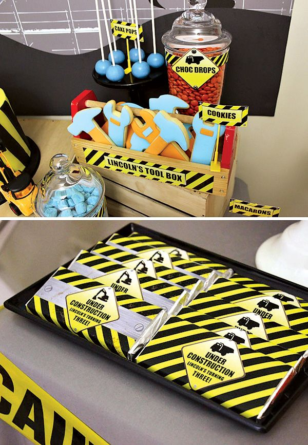 Construction themed favors