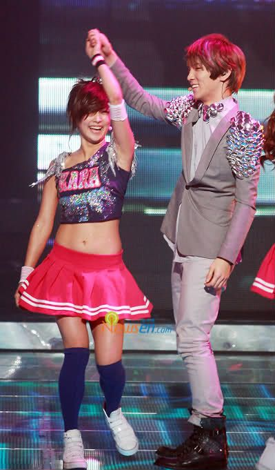 Nicole (KARA) and Key (SHINee)