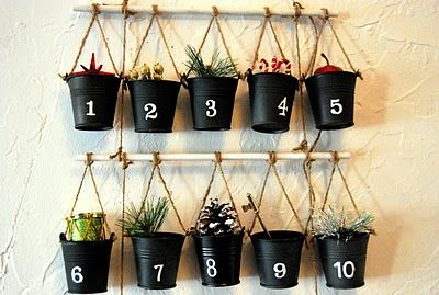 Advent: Christmas Advent Calendar, Diy'S Christmas Trees, Pottery Barn Inspired, Advent Calendars, Diy'S Advent, Pottery Barns Inspiration, Advent Wreaths, Advent Idea, Homemade Christmas