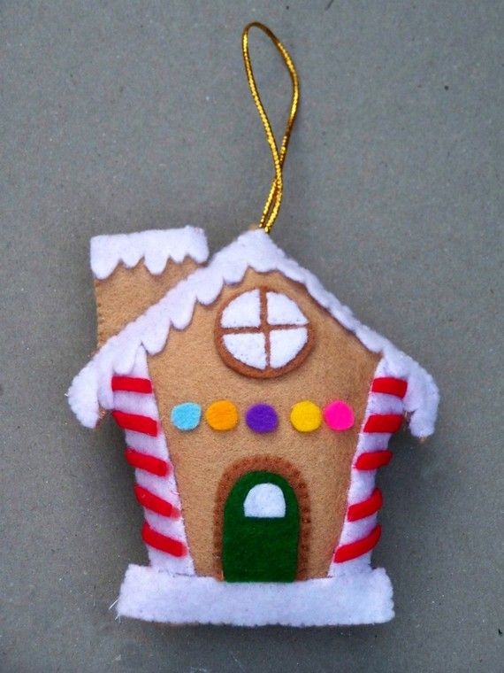 Gingerbread house ornament.