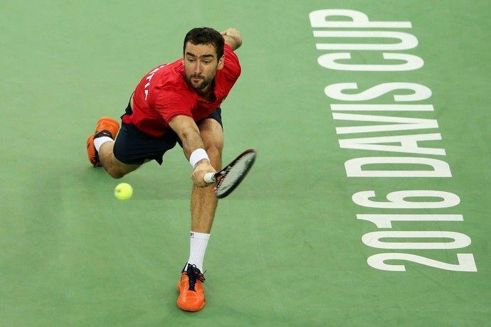 Marin Cilic na final da Copa Davis (Foto: Reuters)