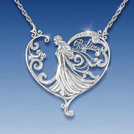 Fantasy Collectibles and Jewelry - Fairy Crystal Necklace: Believe