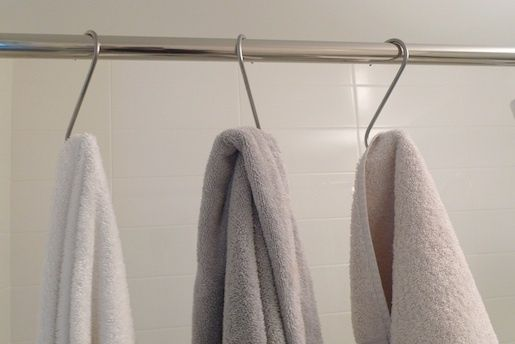 Double shower rod - Eclectic - Shower Curtain Rods - new ... |Shower Rod Double Robe Hook