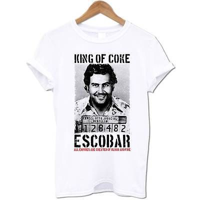 King-Of-Coke-Pablo-Escobar-Colombian-Gangster-Cocaine-Drug-Lord-Mens-T-Shirt