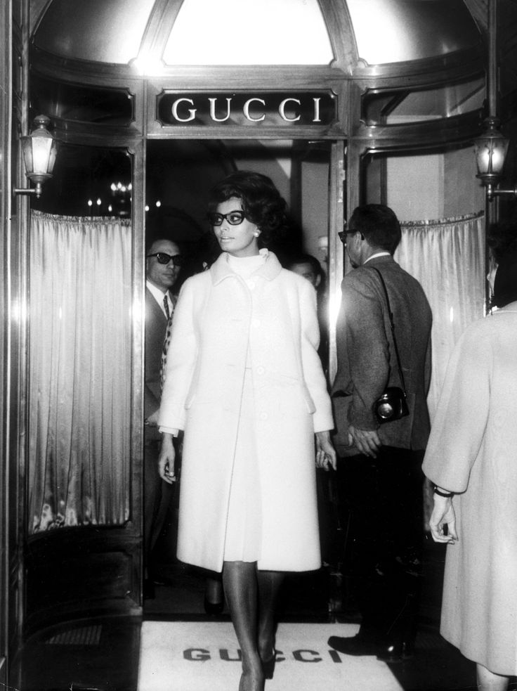 Sophia Loren - Gucci Rome Store, 1970s luxury and easy to wear
