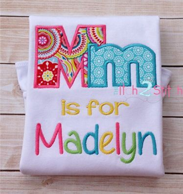 Girls Back to School Applique Shirt.