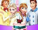 Em Bolo de Casamento Frozen, as irmãs Frozen Elsa e Anna vão se casar e elas escolheram se casar no mesmo dia. Elas querem um lindo e fantástico bolo de casamento e para isso elas contam com sua ajuda. Ajude as irmãs Frozen, Elsa e Anna, prepara um lindo e fantástico bolo para o seu casamento com Jack e Kristoff. Divirta-se com Elsa e Anna!