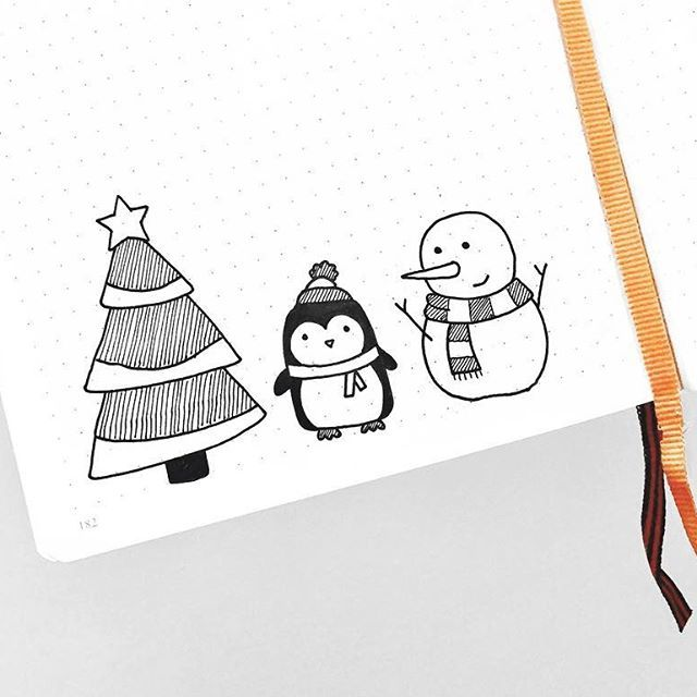 when holiday doodles are finally socially acceptable bc it's after thanksgiving ⛄️