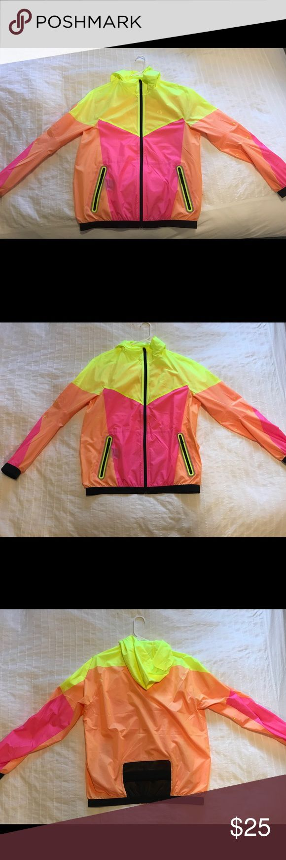 Nike Lightweight Jacket Neon Nike rain jacket, very lightweight. Never been worn, but I took the tags off of it when I first got it. There is a subtle Nike logo on the front. Excellent condition, size medium. Nike Jackets & Coats Trench Coats