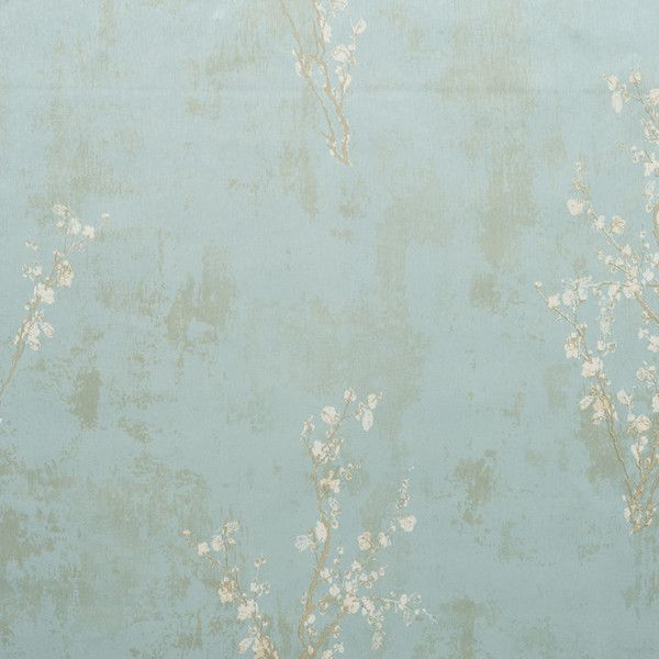 Zen Wallpaper in Pale Blue design by York Wallcoverings