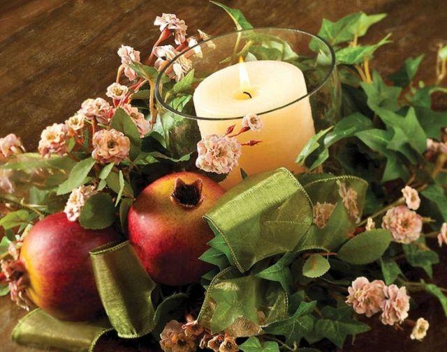 Centrotavola con melegrane: una casa autunnale a tutta frutta!