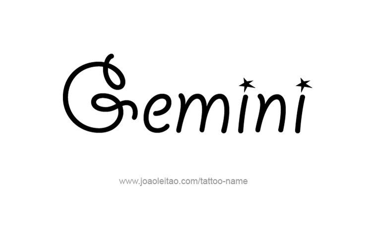 Gemini Horoscope Name Tattoo Designs - Page 2 of 5 - Tattoos with ...