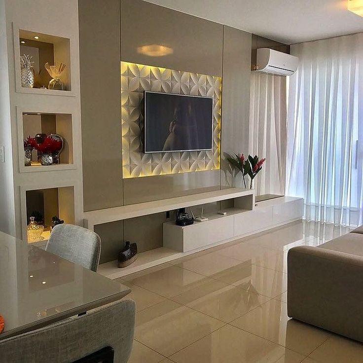 Small Living Room Furniture Design: Resultado De Imagem Para Painel De Tv Feito Com