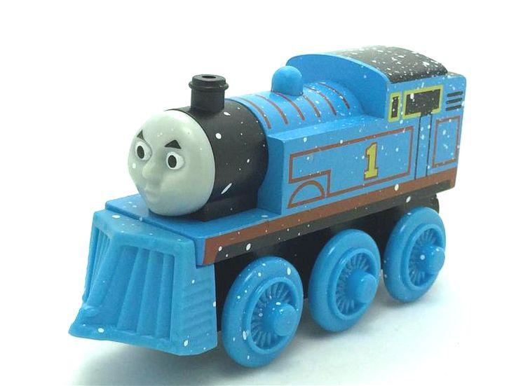 Томас и друзья подлинная магнитный деревянные танк поезд рождественский подарок для мальчиков / девочек снег лопатой томас № 1