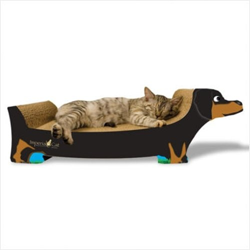 Dachshund cat scratcher. I must find this.