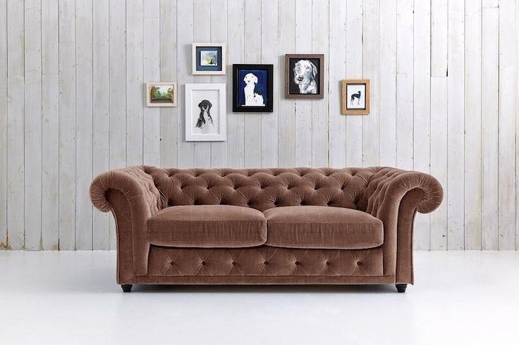 Velvet Chesterfield Sofa Bed - Churchill
