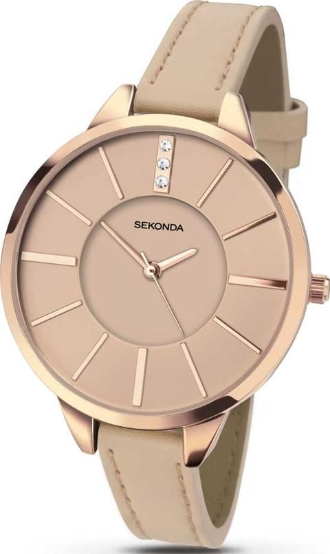 A beautiful nude leather strap ladies watch by Sekonda #Sekonda #Nude #Watches #TheJewelHut #Women #fashion #style #myobsession
