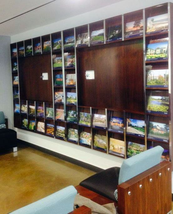 Brochure Display Wall Mounted In A Commercial Realestate
