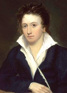 Percy Bysshe Shelley was one of the major English Romantic poets and is critically regarded as among the finest lyric poets in the English language.  Recognition of his significance grew steadily following his death. Percy Shelley was a key member of a close circle of visionary poets and writers that included Lord George Gordon Byron, Leigh Hunt, Thomas Love Peacock, and his second wife, Mary Shelley, the author of Frankenstein.