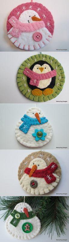 Snowman on Circle Shape, Penguins & Snowmen