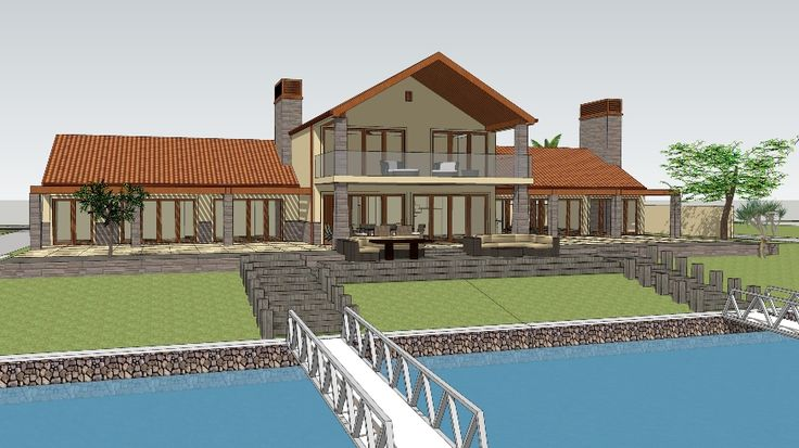 SketchUp Model of house 1image created by Nick Hindson