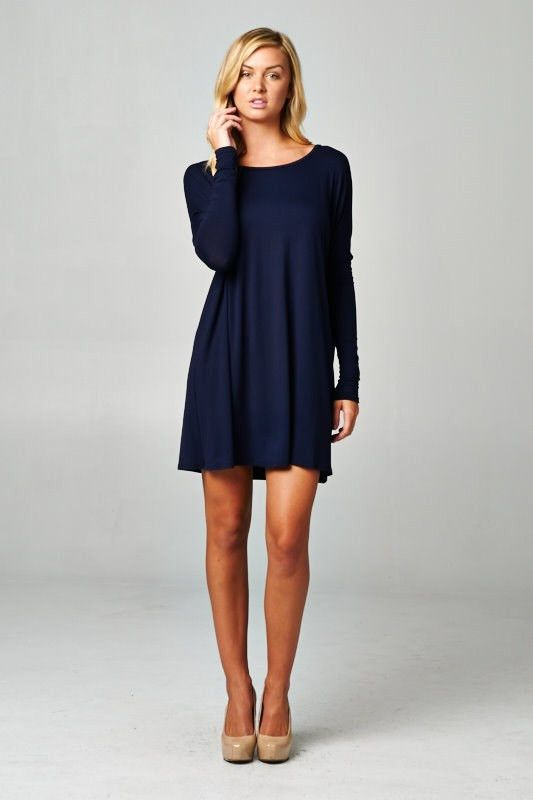 Reborn Long Sleeve Dress with Loose Fit