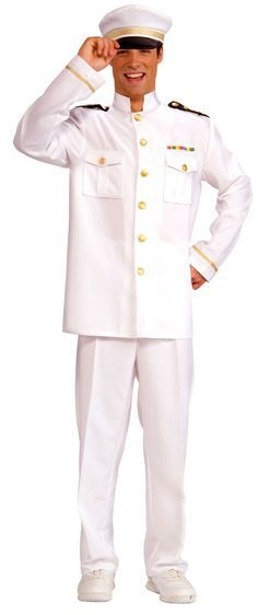 Cruise Ship Captain Adult Costume - Sailor Costumes