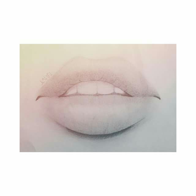 I really like drawing lips, im not quite good yet, but still learning and slowly getting better. #self-taught