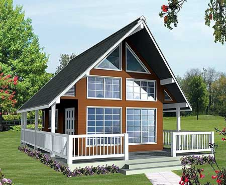 Plan 9836sw Vacation Escape With Loft And Sundeck House