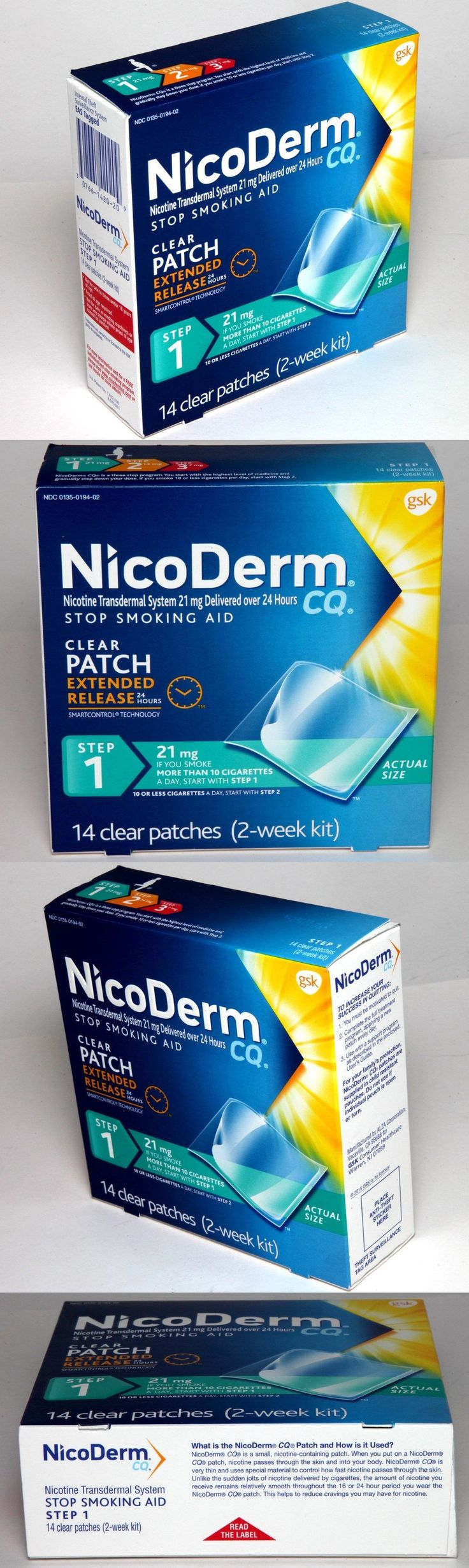 Patches: Nicoderm Cq Nicotine Patch Step 1 Transdermal 21 Mg Stop Smoking Aid 2 Week Kit -> BUY IT NOW ONLY: $32.99 on eBay!