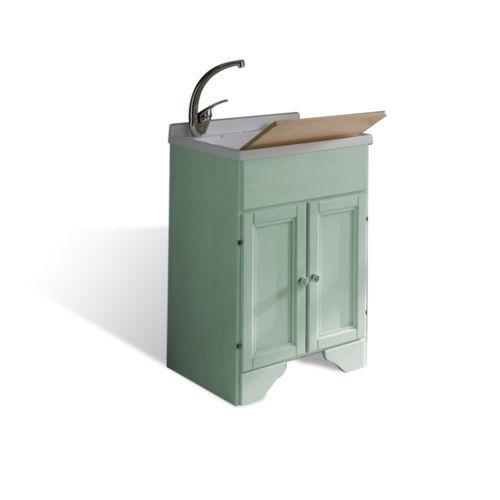 Mobile-lavatoio-in-legno-decape-verde-50-x-50-per-lavanderia-bagno-arredo-shabby