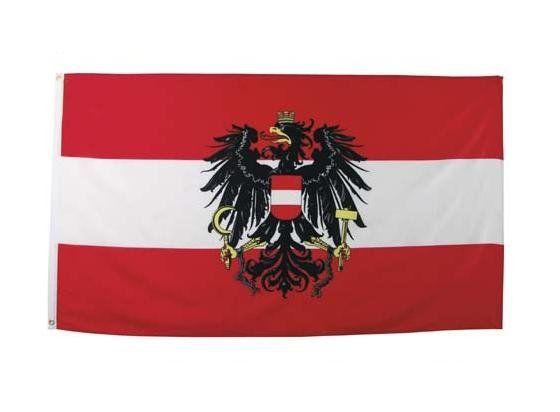 MFH Fahne, Österreich 90 x 150 / mehr Infos auf: www.Guntia-Militaria-Shop.de