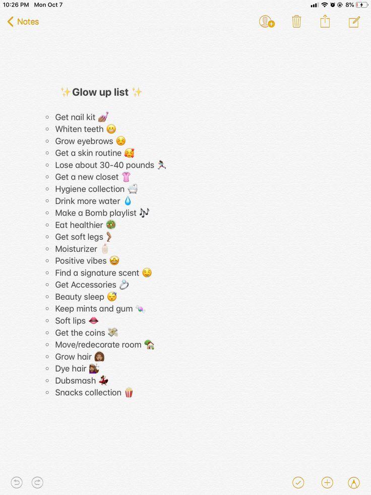 Glow up checklist #checklist