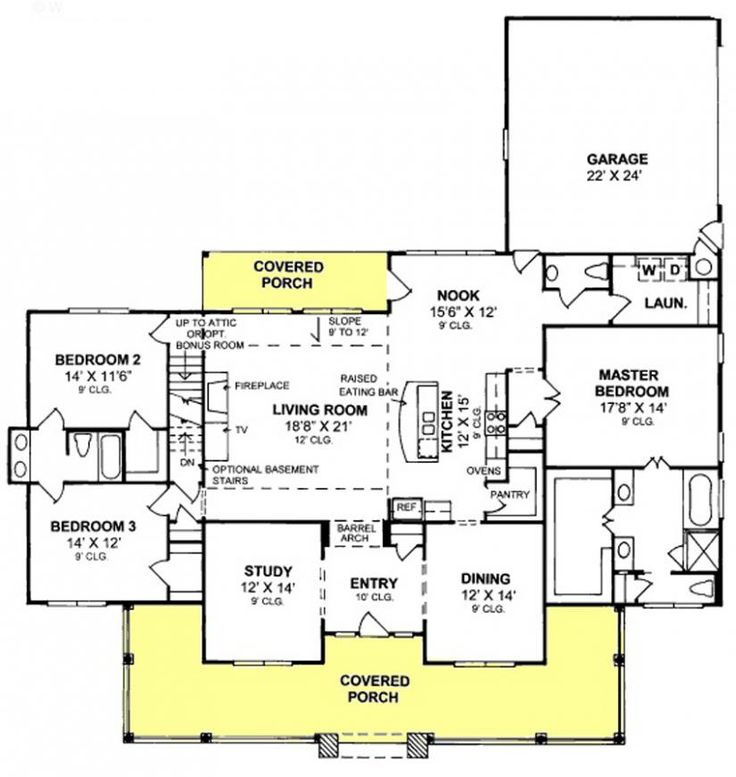 1000 ideas about farmhouse floor plans on pinterest for Split level open floor plan