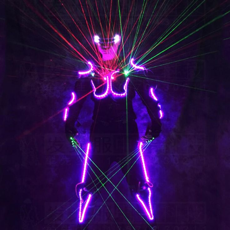 New Arrival LED Armor Light Up Jackets Laser Costume With Glasses Laser Gloves Led Outfit Clothes Led Suit For LED Robot suits #SchoolOutfits