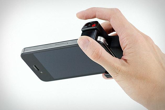 IPHONE SHUTTER GRIP - Nifty idea.  #uncrate